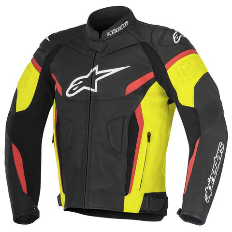 ALPINESTARS GP PLUS R V2 LEATHER BLACK/FLUO YELLOW/RED JACKET