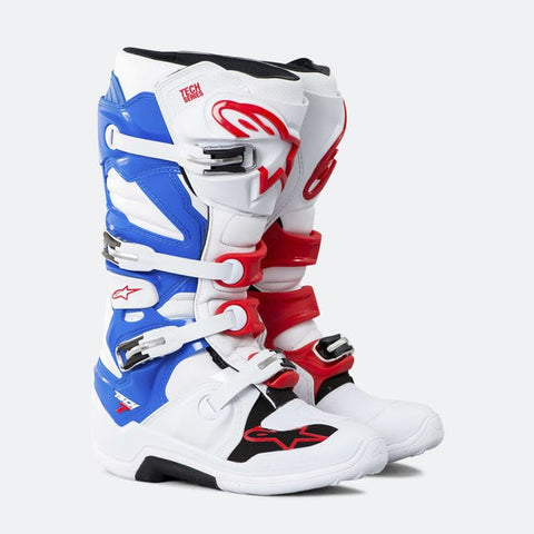ALPINESTARS TECH 7 WHITE/BLUE/RED PATRIOT BOOT