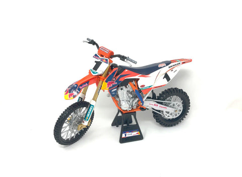 NEW-RAY REPLICA 1:10 RACE BIKE 17 KTM 450SX-F ORANGE(DUNGEY)