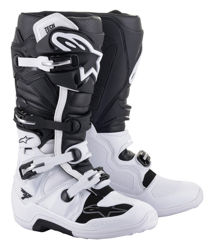 ALPINESTARS TECH 7 BOOTS WHITE/BLACK SZ 10