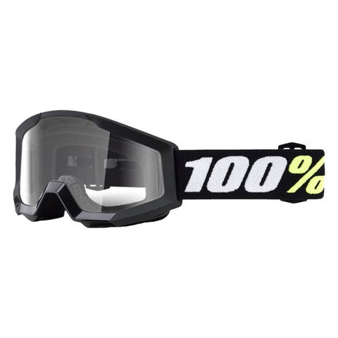 100% THE STRATA MINI BLACK/CLEAR LENS GOGGLE