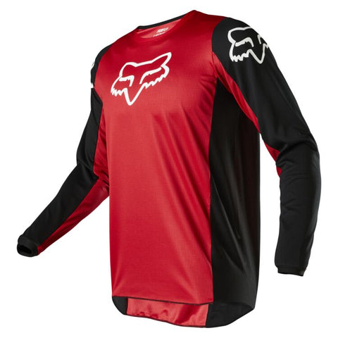 FOX 180 PRIX FLAME RED JERSEY