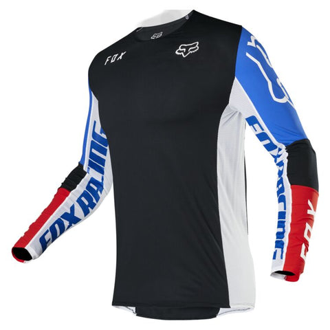 FOX FLEXAIR HONR BLACK/BLUE/RED JERSEY