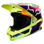 FOX V1 GAMA YELLOW HELMET