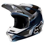FOX YOUTH V1 MOTIF BLUE/GREY HELMET