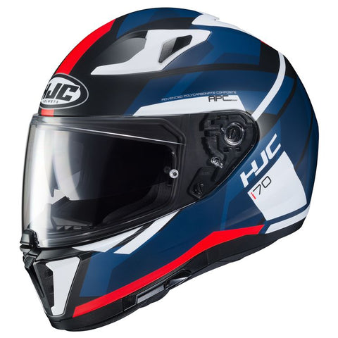 HJC i 70 ELIM MC-1SF MATTE BLACK/BLUE/WHITE HELMET