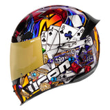 ICON AIRFRAME PRO LUCKY LID 3 BLACK HELMET