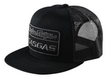 TROY LEE 2021 DESIGNS BLACK TLD X GAS GAS SNAPBACK TEAM LOGO TRUCKER HAT OS