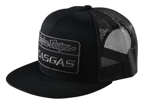 TROY LEE 2021 DESIGNS BLACK TLD X GAS GAS SNAPBACK TEAM HAT