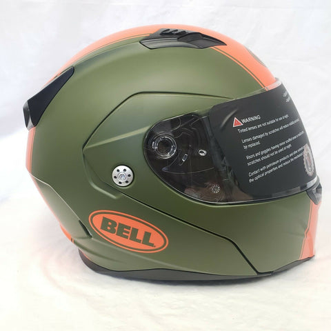 BELL PS REVOLVER EVO RALLY MATTE GREEN HELMET