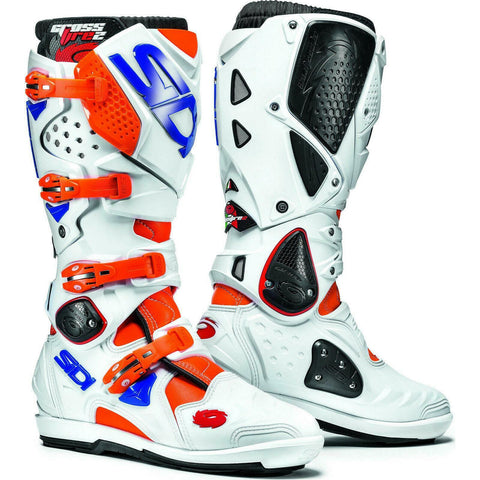 SIDI STIVALI CROSSFIRE 2 SRS ORANGE FLUO/WHITE/BLUE BOOT