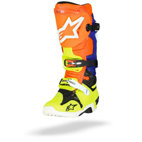 ALPINESTARS TECH 10 ORANGE/BLUE/YELLOW BOOT