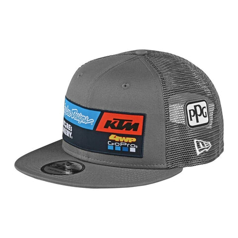 Troy Lee Designs 2020 TLD KTM Team Snapback Hat Adult Gray