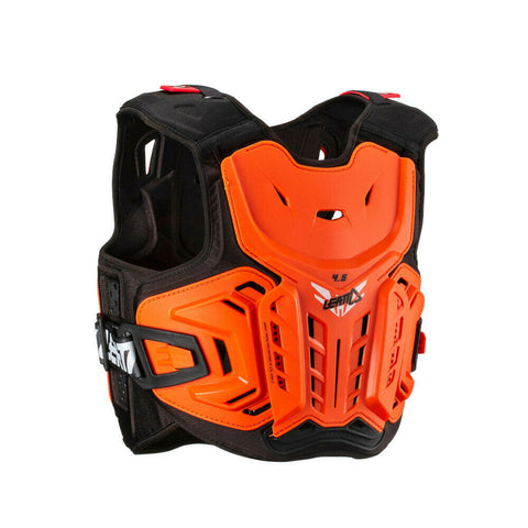 Leatt Chest protector 4.5 - Orange/White -Junior 147-159cm