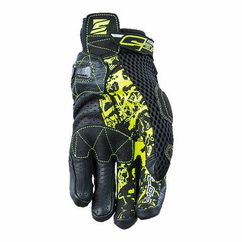 FIVE STUNT EVO AIRFLOW BLACK/YELLOW GLOVE