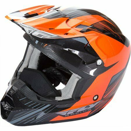 FLY KINETIC PRO COLD WEATHER BLACK/ORANGE HELMET