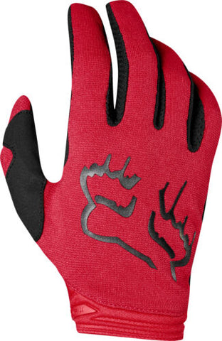 FOX WOMENS DIRTPAW MATA FLM RED GLOVE