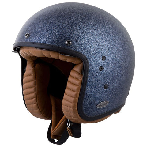 SCORPION BELFAST METALIC BLUE HELMET