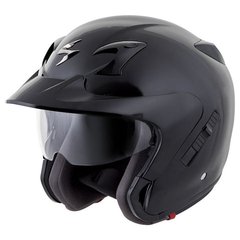 SCORPION EXO-CT220 OPEN-FACE SOLID BLACK HELMET