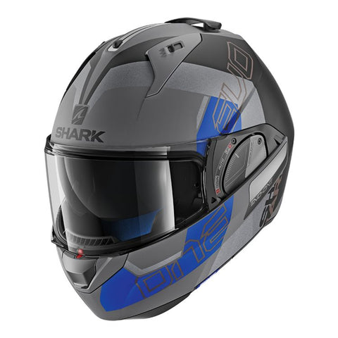 SHARK EVO-ONE 2 SLASHER MATTE BLACK/BLUE HELMET