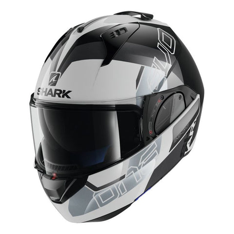 SHARK EVO-ONE 2 SLASHER DOT WHITE/BLACK HELMET
