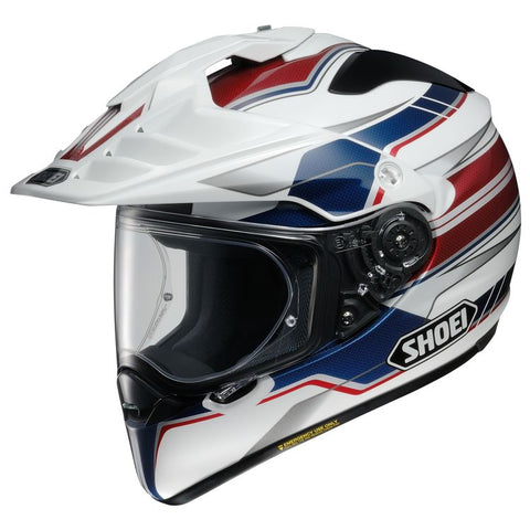 SHOEI HORNET X2 NAVIGATE TC-2 WHITE/RED/BLUE HELMET
