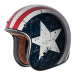 TORC T-50 3/4 REBEL STAR CAPTAIN AMERICA HELMET