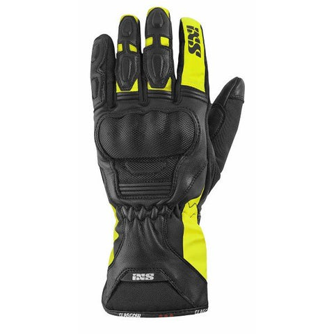 IXS GLASGOW BLACK/YELLOW GLOVE