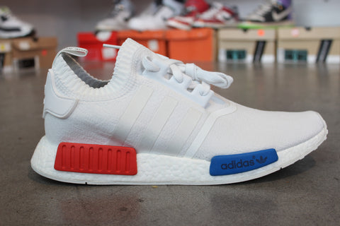 Adidas NMD Runner PK White, Blue, and Red