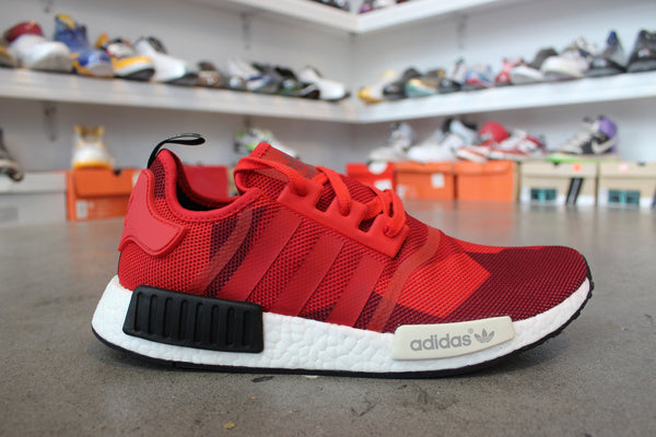 Adidas NMD R1 Red, Black, and White
