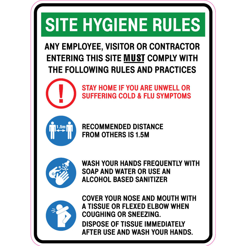 Site Hygiene Rules  Sign
