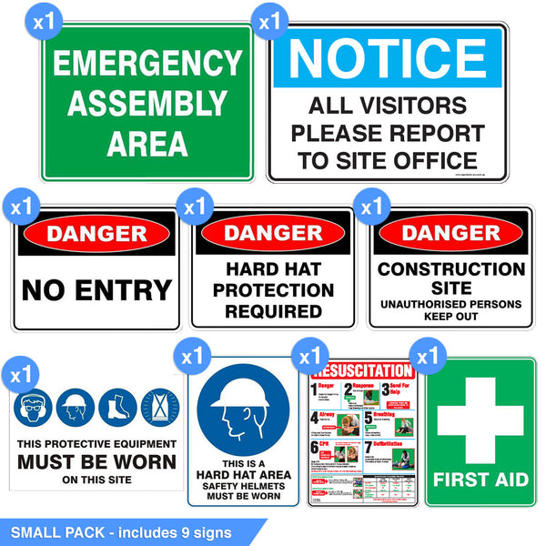 CONSTRUCTION SIGNAGE PACK