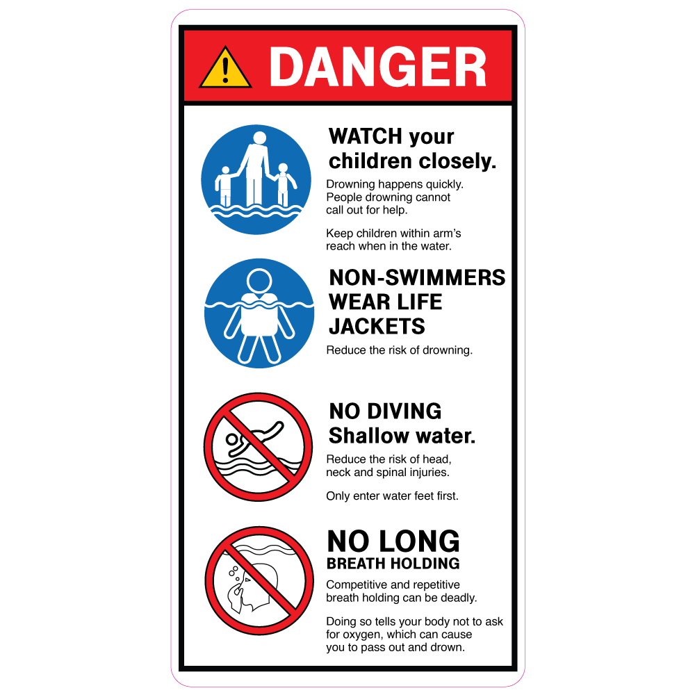 Water Safety -  Pool Entrance Sign