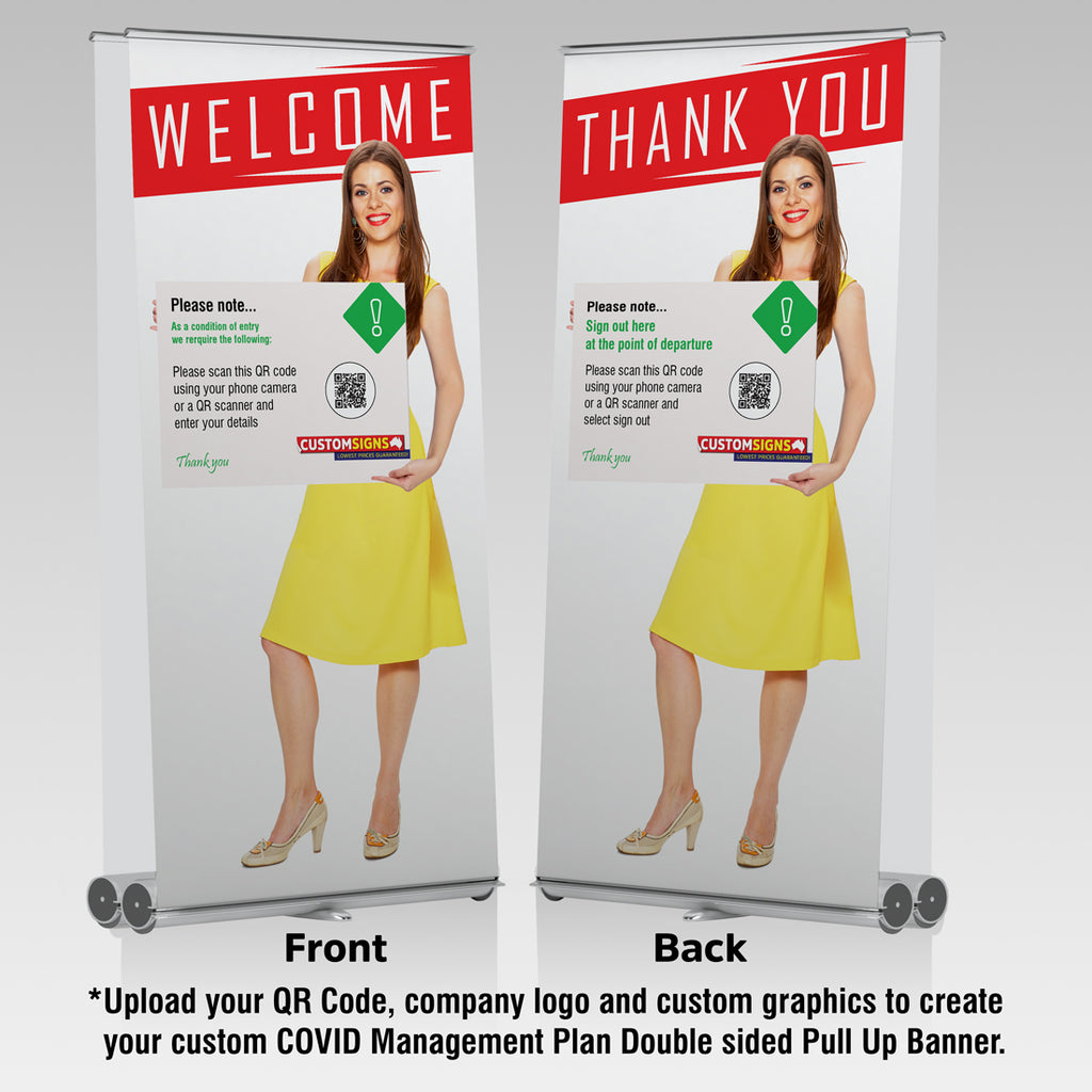 Premium Double Side Greeter Pull Up Banners