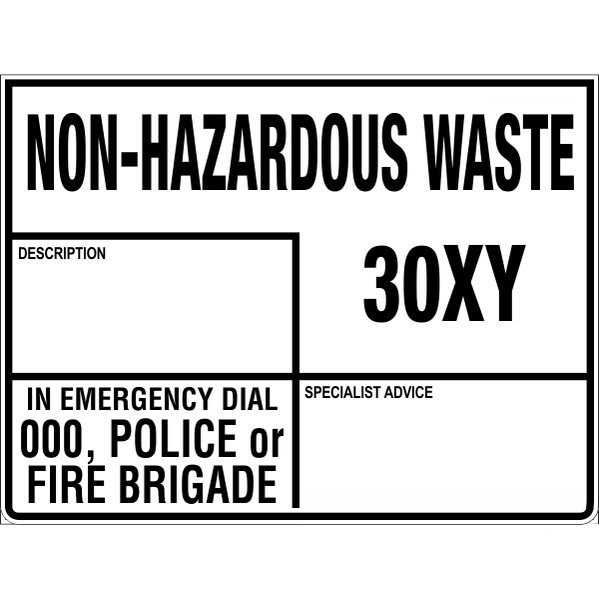 Emergency Information Panel - Non-Hazardous Waste