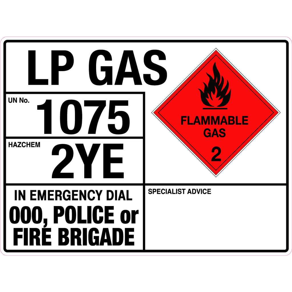 Emergency Information Panel - Lp Gas
