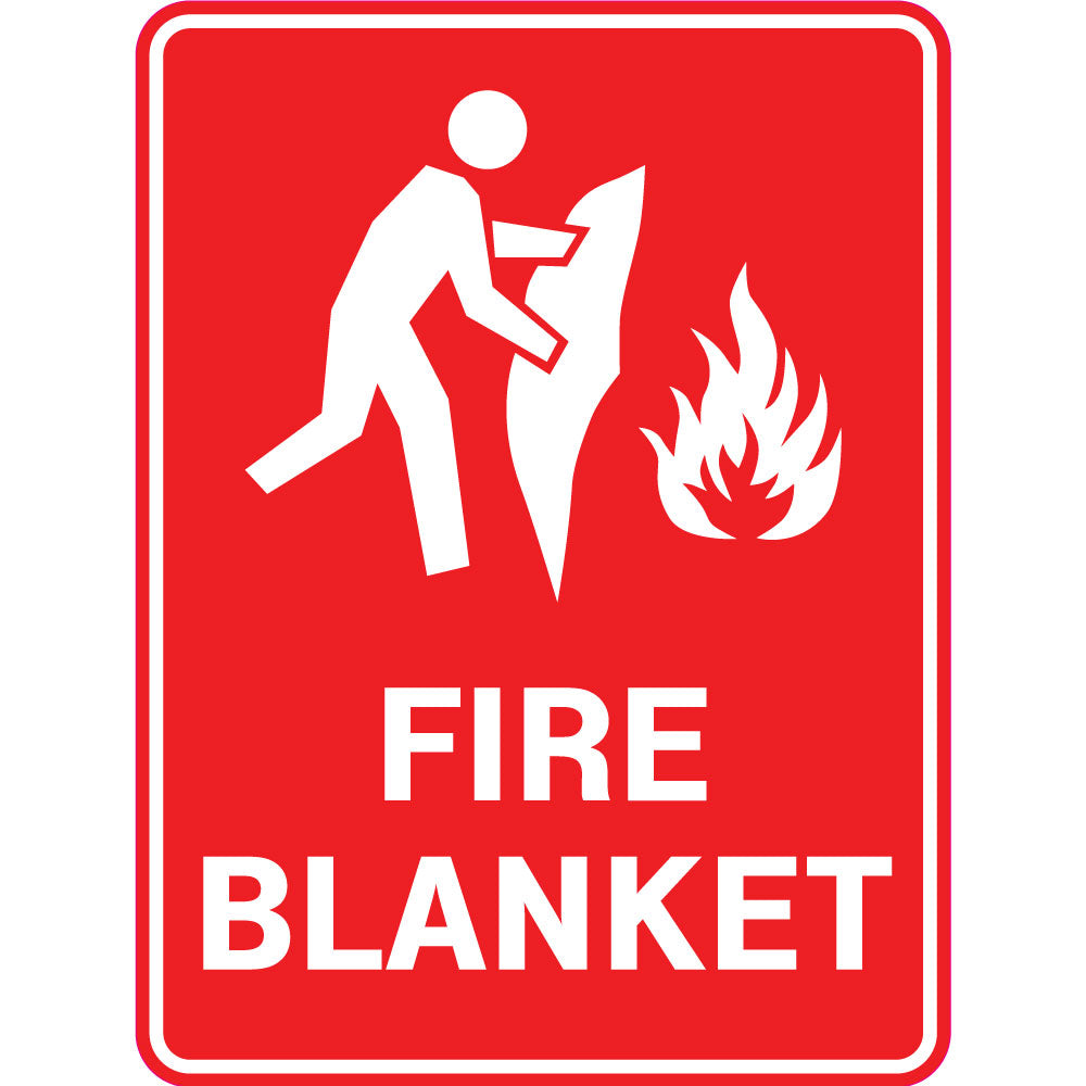 Fire Safety  Fire Blanket  Sign