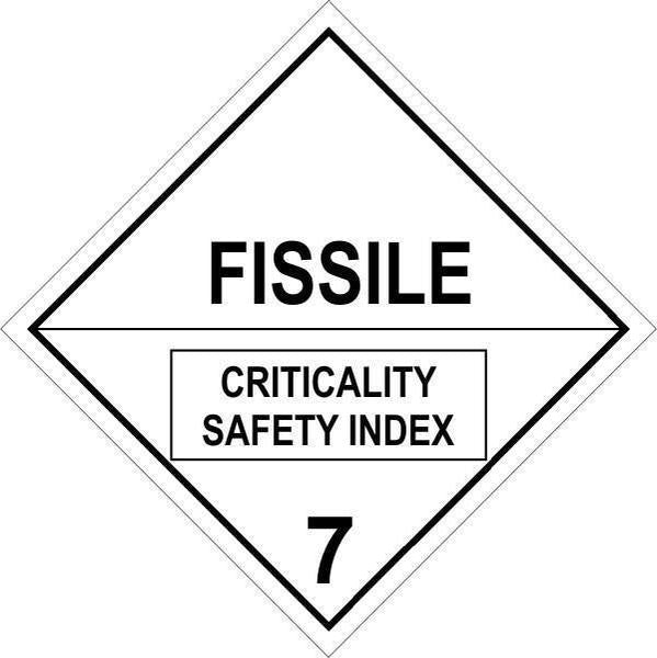 Hazchem Diamond  Class 7 - Fissile  Sign