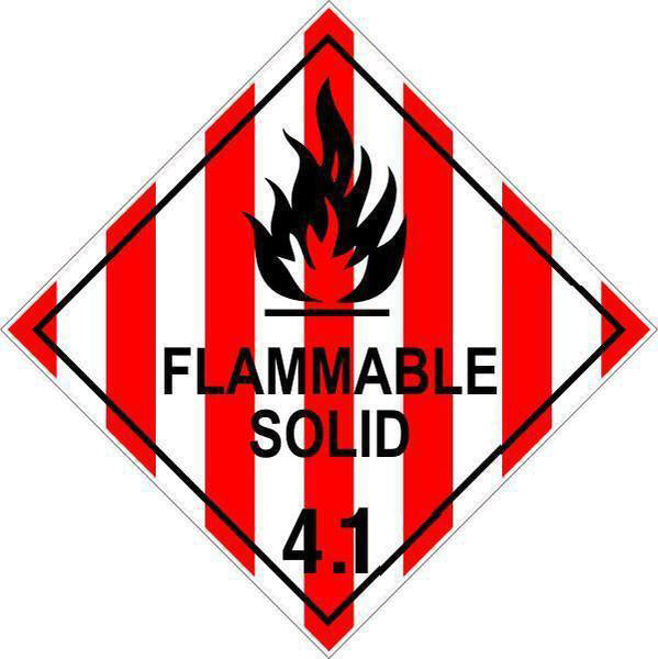 Hazchem Diamond  Class 4 - Flammable Solid 4.1  Sign