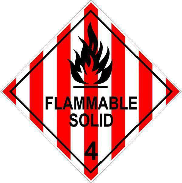 Hazchem Diamond  Class 4 - Flammable Solid  Sign