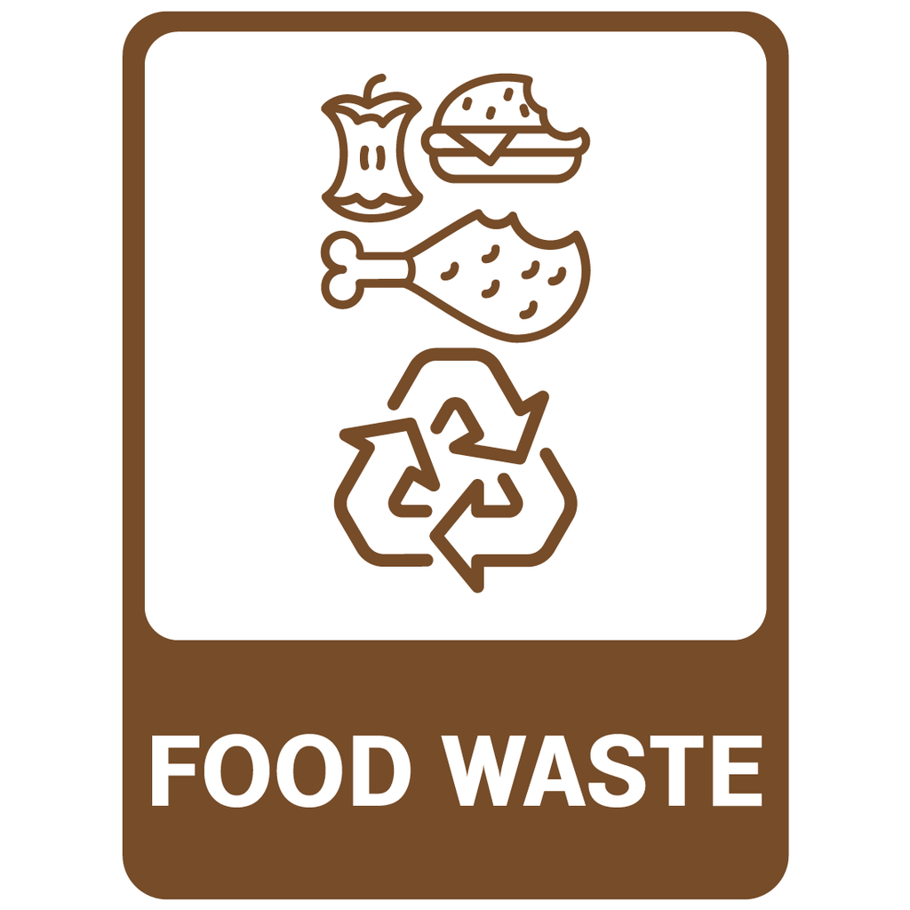 Recycling -  Food Waste  Sign
