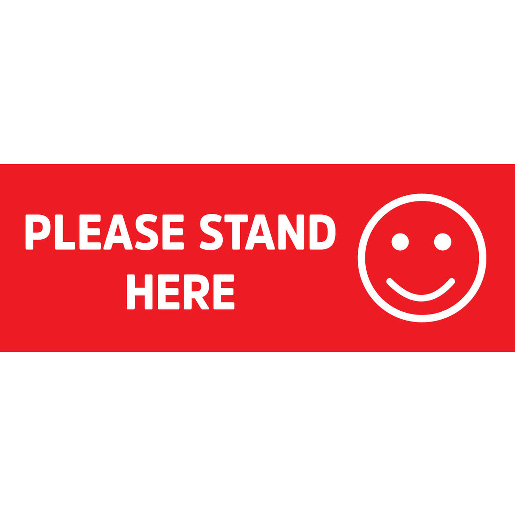 Please Stand Here Floor Sticker Stickers Bulk Pack