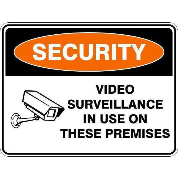 Security -  Video Surveillance In Use On These Premises - 2  Sign