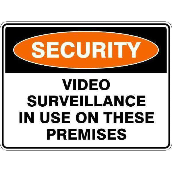 Security -  Video Surveillance In Use On These Premises  Sign