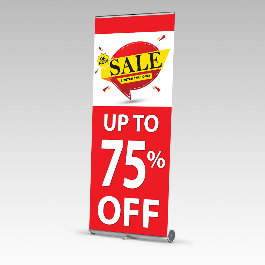 Sale Limited Time Only Premium Single Side Pull Up Banner