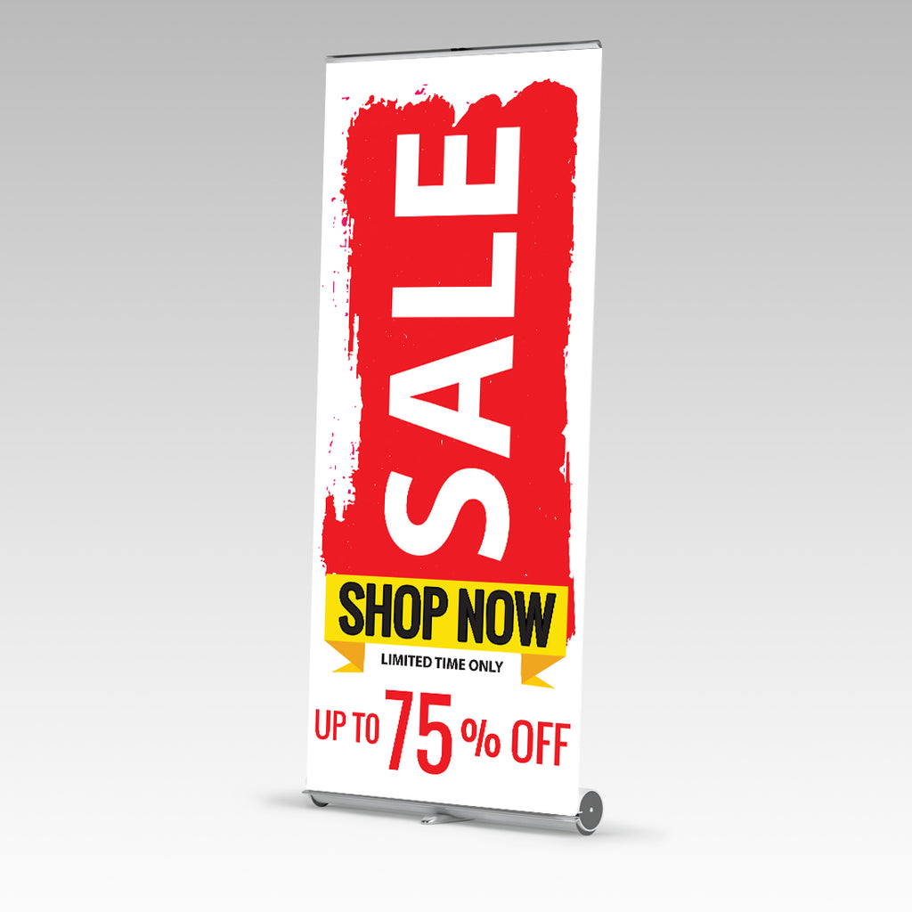 Sale Shop Now Premium Single Side Pull Up Banner