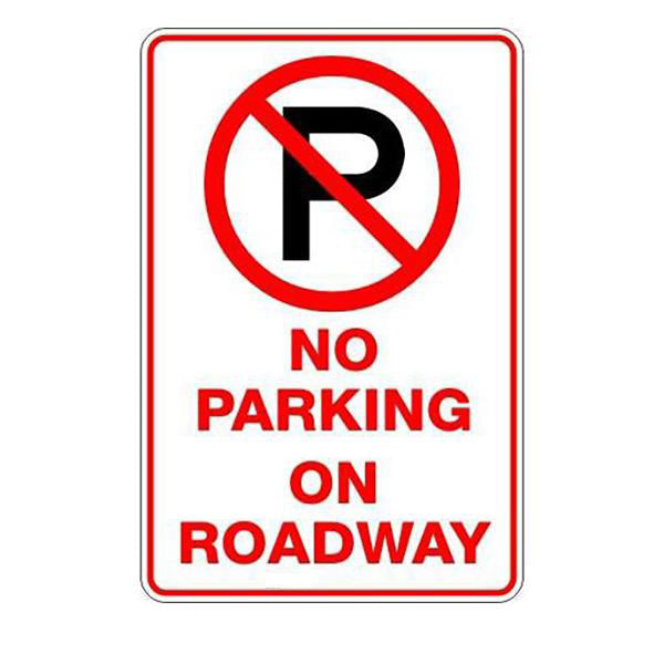 No Parking On Roadway P  Sign