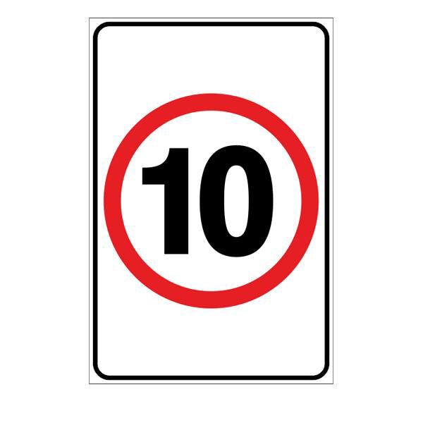 Speed Limit 10 Red Annulus  Sign