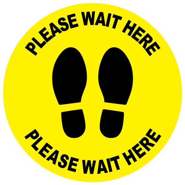 Please Wait Here Floor Stickers Bulk