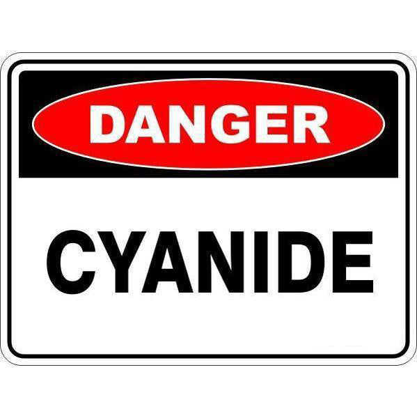 Danger -  Cyanide  Sign